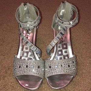 Selina silver heels.